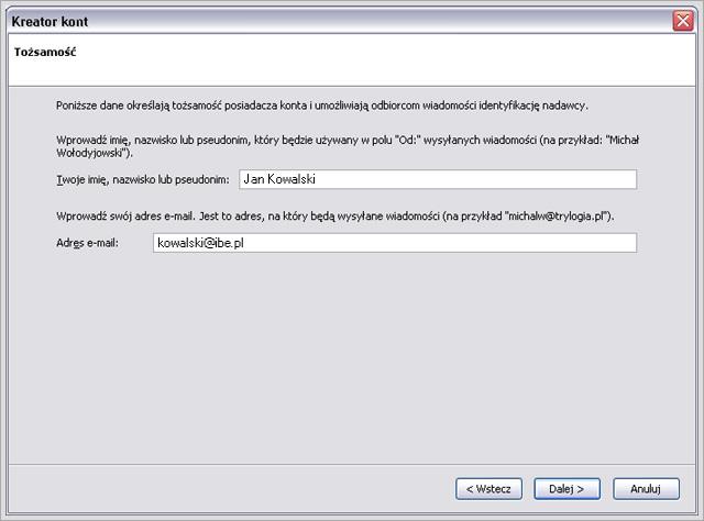 ef9439a2f37e1f Mozilla Thunderbird - konfiguracja konta pocztowego